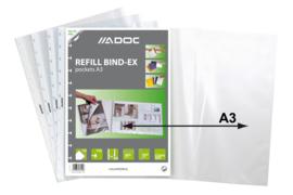 ADOC Bind-Ex Navulling/Refill Insteekhoezen Folder-Ex A3