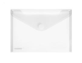 Pak van 10 x Enveloptas A5 Transparant met klittenbandsluiting