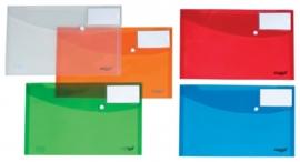 Pak van 20 x Enveloptas A4 met venster assorti kleuren Enva4