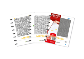 Set of 3 Crea A5 Notebook Labyrinth Feint