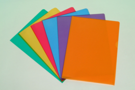 L-Shape Folders A4 assorted colours D31A10 / 100 pcs.