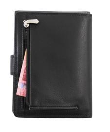Reis Portefeuille met sluitlip zwart Skim Protection / RFID