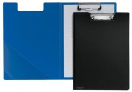 Set van 7 Klemmappen PP A4 zwart en blauw