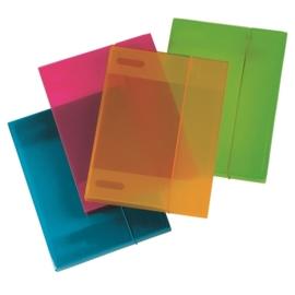 Document Box Set van 2 stuks - oranje & blauw -  rug 3 cm