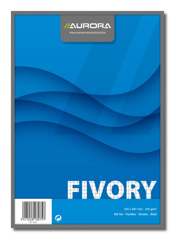 Fivory Systeemkaarten A4, geruit, 42950