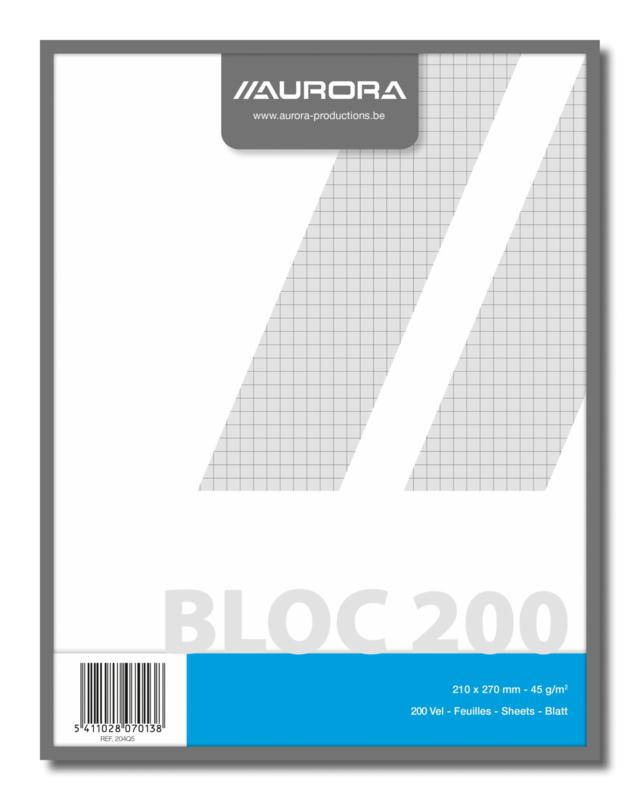 Kladblok geruit gerecycled papier 204Q5