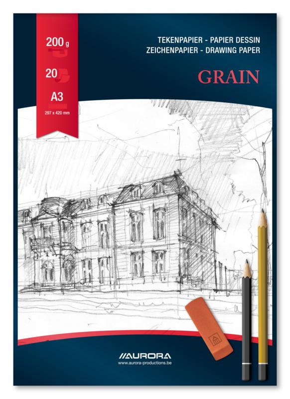Tekenblok Grain 297x420 mm BL13