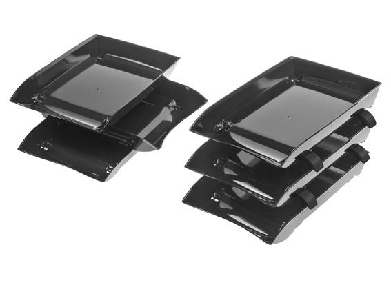 RAISER brievenbakjes A4 zwart