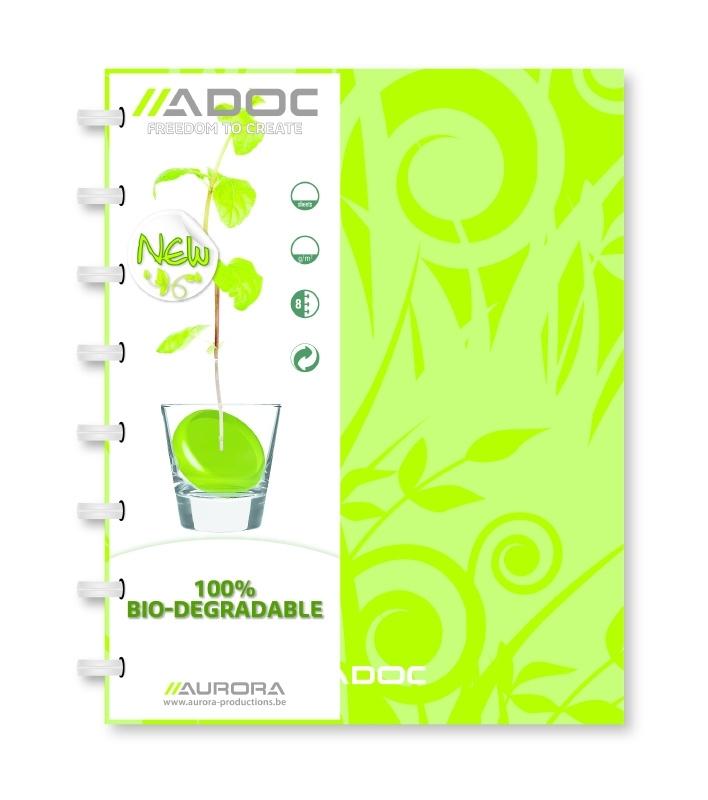 ADOC Bio Pap-Ex Schrift/Notebook A4 Gelijnd