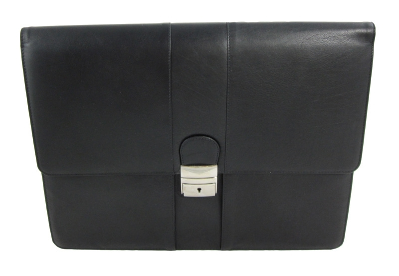Aktetas / Attaché tas leer zwart