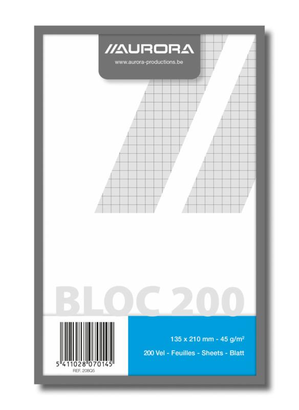 Kladblok geruit gerecycled papier 208Q5