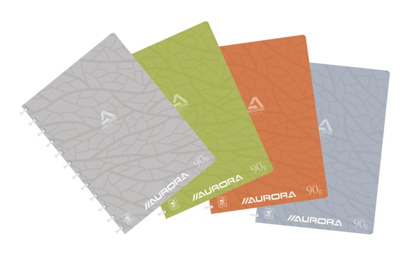 Doos van 10 x ADOC Design Schrift/Notebook A4, Gelijnd