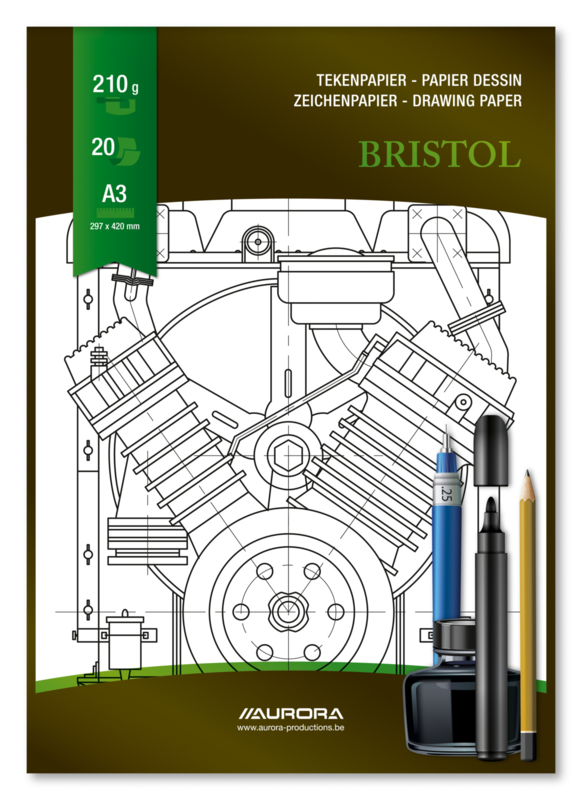 Pak van 5 x Tekenblok Bristol A3 BL15