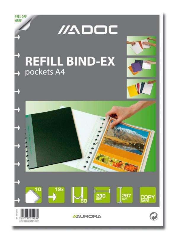 ADOC Bind-Ex Navulling/Refill Insteekhoezen A4