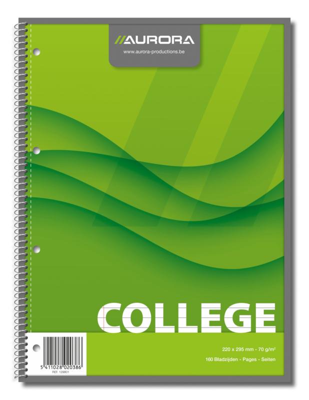 Collegeblok A4 Spiraal 129801