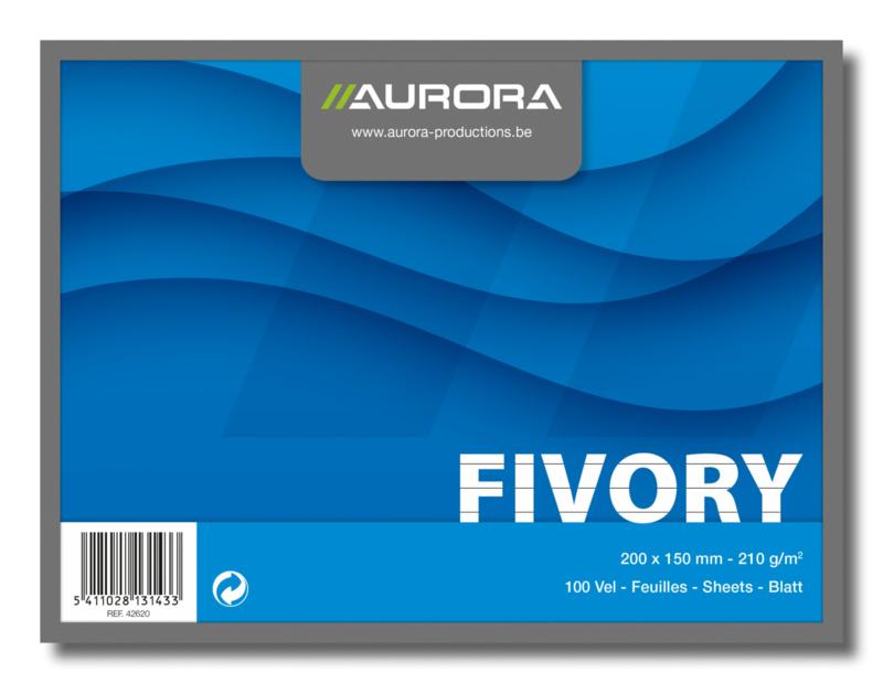 Fivory Systeemkaarten 20 x 15 cm, gelijnd, 42620