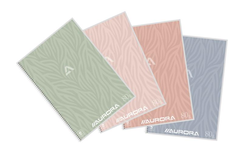 Pak van 10 x Spiraalblok Design A4 , gelijnd, witte spiraal, 2960DT