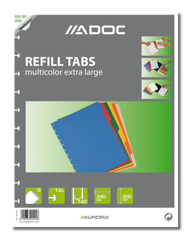 ADOC Dividers Multicolour A4 6 tabs, XL