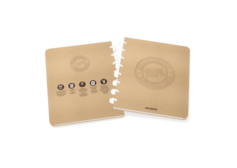 ADOC Bio Pap-Ex Schrift/Notebook A5 Gelijnd