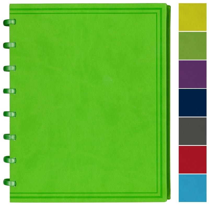 Set van 3 ADOC Luxe Kunstleder Schrift/Notebook A5 gelijnd, rood, lichtblauw, donkerblauw