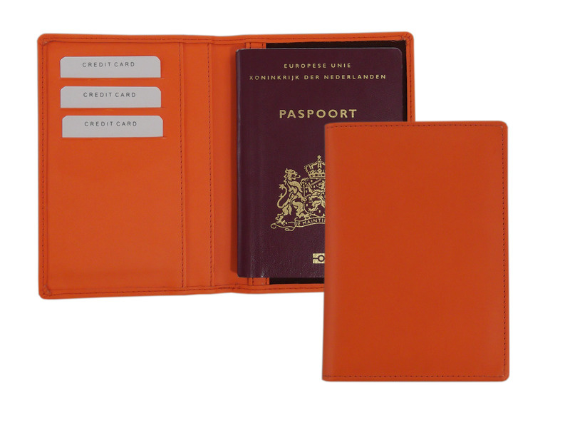 Paspoort omslag oranje