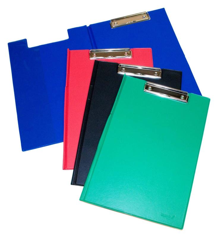 Klemmap PVC gelast A4  - set van 10 - Assorti kleuren
