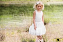 Linea Raffaelli, poederroze jurk