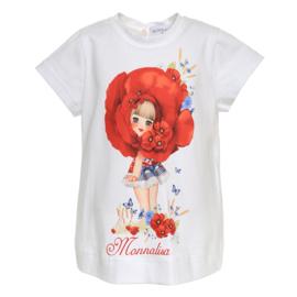 Monnalisa, shirt meisje met klaprozen