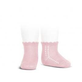 Condor, opengewerkte licht roze sokjes
