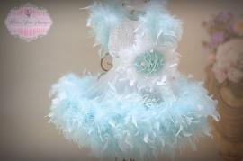 Pretty Aqua Feather Dress