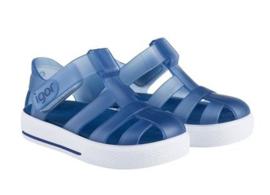 Igor, transparant donkerblauw waterschoentjes