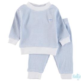 Feetje, licht blauw wafel pyjama