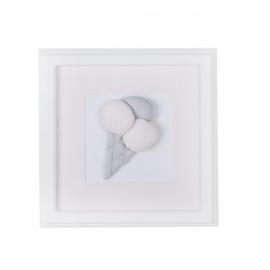 Caramella, roze schilderij met ijsje