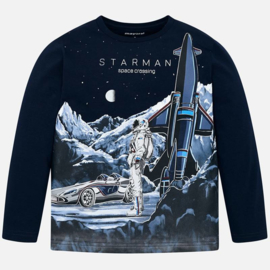 Mayoral, donkerblauwe longsleeve Starman