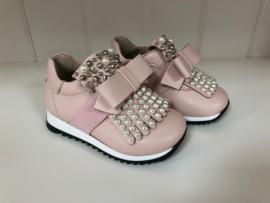 Florens, zalm roze sneakers met strass