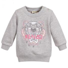 Kenzo, grijze sweater met tijger