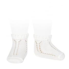 Condor, opengewerkte witte sokjes
