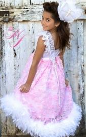 Simply Shabby Chic Rosette Flower Girl Dress
