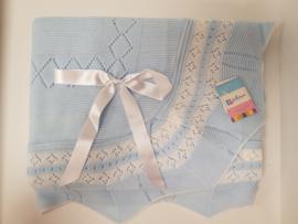 Vistiendo Bebes, blauwe deken 760
