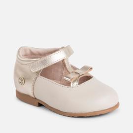 Mayoral, creme/goud sandalen