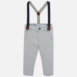 Mayoral, grijze broek met bretels