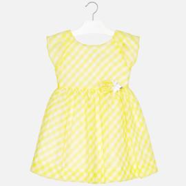 Mayoral, gele jurk met ruitje
