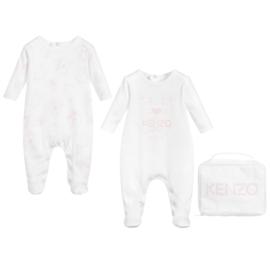 Kenzo, wit/roze 2 babypakjes