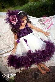 Haarclip voor Plum Devine Girls Rosette Fluffy Dress
