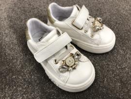 Liu Jo, creme sneaker met strass