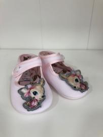 Monnalisa, roze babyschoentjes met Bambi