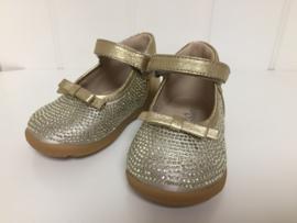 Florens, gouden sandaaltjes met strass