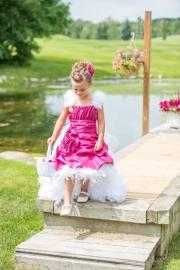 """A Royal Garden""... A Scrumptious Taffeta Dress With Removable Bustle & Train"
