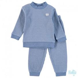 Feetje, blauw melee wafel pyjama