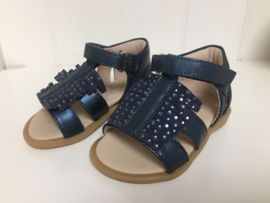 Florens, donkerblauwe sandaaltjes met strass